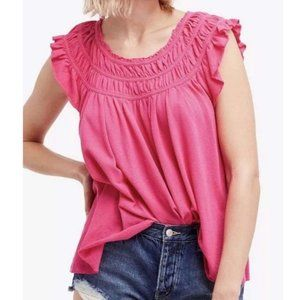 NWT We the Free Coconut Ruffle Top